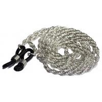 Luxe zilverkleurige ketting brillenkoord - dubbele schakel