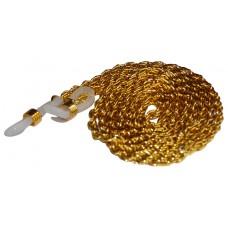 Luxe brillenketting goud - dubbele schakel